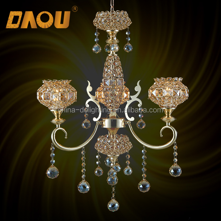 Zhongshan factory glass beads big chandelier crystals hotel with parts in china