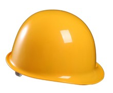 Different function of safety helmet with construction industrial worker