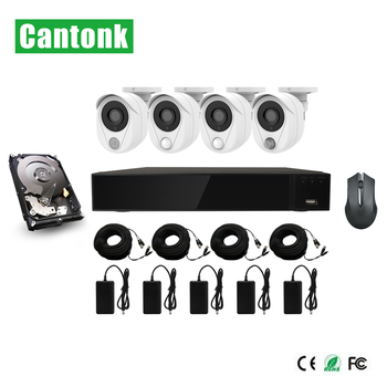 Cantonk 1080P 4pcs  camera cctv nvr security alarm system smart home kit
