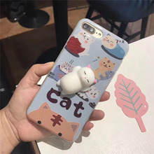 top selling brand new Cat TPU matte slow rising mochi Squishy Phone Case for sale
