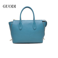 Newest stylish trendy fashion 2016 ladies' leather tote bag wholesale