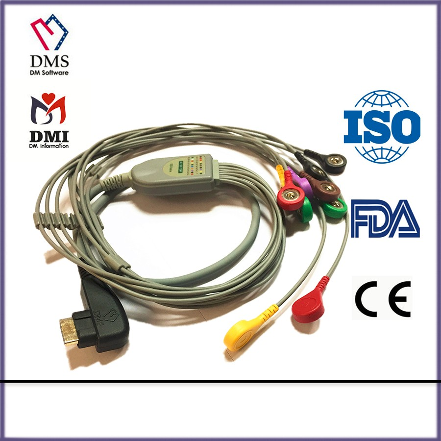 DMS 300 Holter System cable ECG holter ecg cable