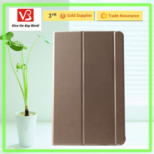 golden color pad/tablet case with 3 strap 10.1 for sansuang