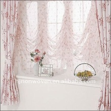 pink printed curtains