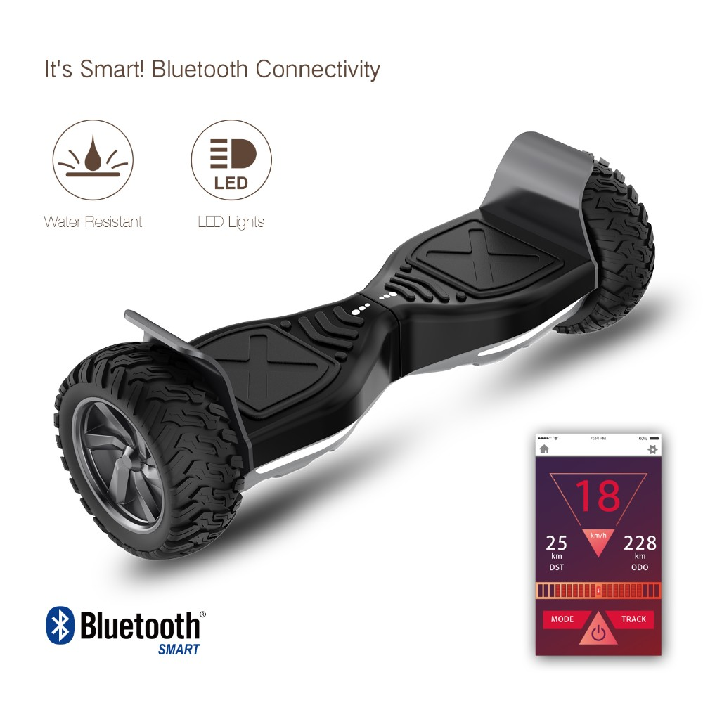 8.5inch citycoco 2 wheels UL2272 certified hoverboard electric balaning scooter with bluetooh