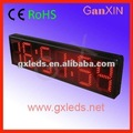 8inch with CE RoHS approved semi-outdoor temperature led light digital wall clock