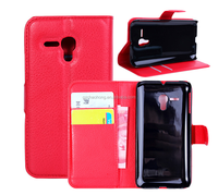 Cheap Factory Price Mobile Phone Flip Leather Wallet Case high protective for Alcatel Pop D5 ot5038