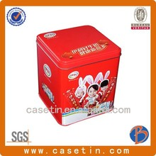 milk candy tin container packaging/large tin cans/metallic box