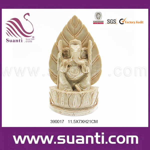 Alibaba China Cheap Resin Ivory Brass Hindu Lord Ganesh Religious Craft