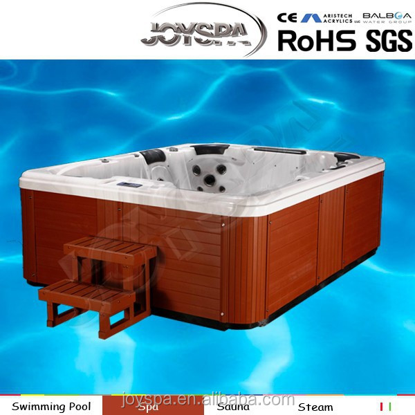 6 Person Deluxe Balboa System America Acrylic Hot Tub Outdoor Swim SPA with LED light Party Bathtub with TV / Hot Tub