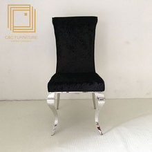 High quality long duration time modern stainless steel restaurant dining chairs