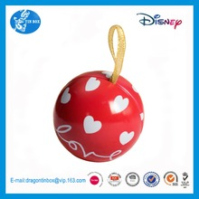 Customized Christmas ornament storage containers / ball shaped tin packaging boxes for candy chocolate
