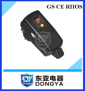 PRCD portable leakage switch plug GS CE approved