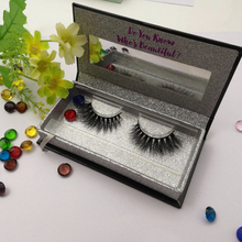 Glitter Magnet Case Hot Stamping Mink Fur Eyelashes Individual 3d Mink Lashes Private label Beauty Eyelash