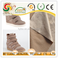Make-to-order supply type and plain style suede fabric cheap upholstery fabric for shoe