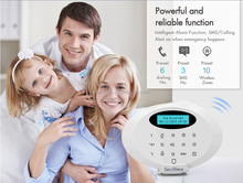 Wireless GSM alarm system working with WiFi IP video alarm camera