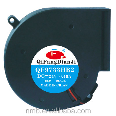 Qifang 97mm 9733 dc 12volt/24v water air blower fan for oven