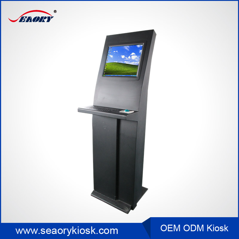 Ticket scanning kiosk with barcode scanner