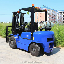 2.5 Ton petrol Forklift with Mitsubishi engine with 4.5m triple mast for container use