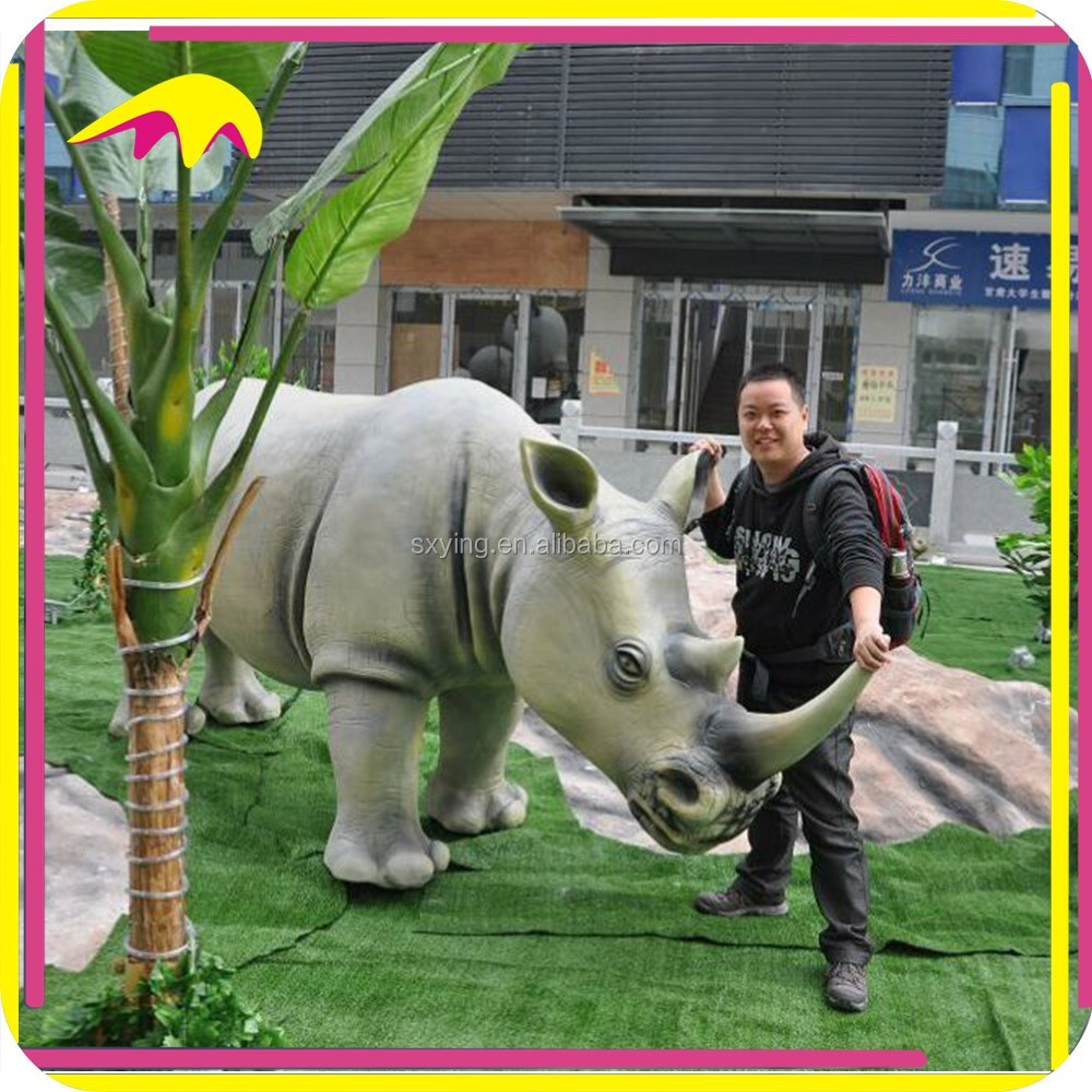KANO5015 Decoration Life Szie Artificial Realistic Rhino