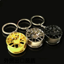 Creative auto part model wheel rim tyre keychain keyring key chain