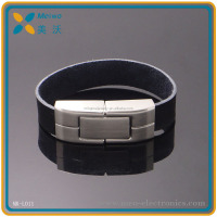 Promotional USB 2.0 Leather Wristband USB Memory Bracelet USB Flash Drive