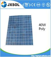 Poly crystalline photovoltaic cell solar panels 40 watt for solar lighting system