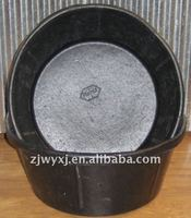 Recycled tyre rubber tubs feed trough rubber tub Rubber container with hooks