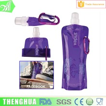 Wholesale BPA Free foldable water bottles 480ml Collapsible water bottle Foldable drinking Bottle 102