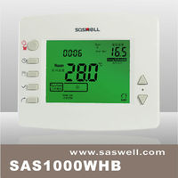 Large Green LCD display double way wireless gas boiler heating digital room thermostats central heating system master controller