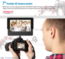 "7"" built-in battery hdmi camera monitor for DSLR & full HD"