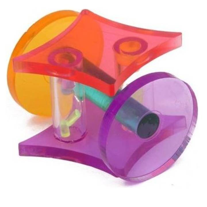 Parrot Bird Acrylic Wheel Toy