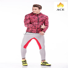 New design custom training /sports coat and pant 100% polyester track suit men