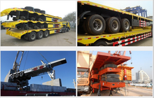 60 tons low bed used semi trailer