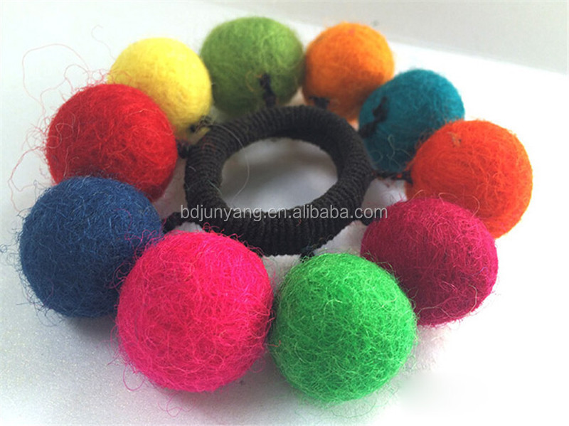 2cm handmade felt ball small wool ball felt hanging balls