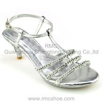RMC High quality fashion diamante women high heel shoes