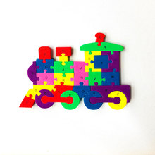 Educational early learning train puzzle toys for kids DIY
