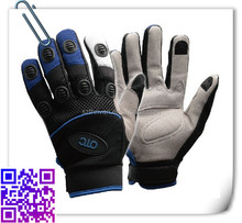 leather palm for abrasion resistantand conductive for phone work gloves
