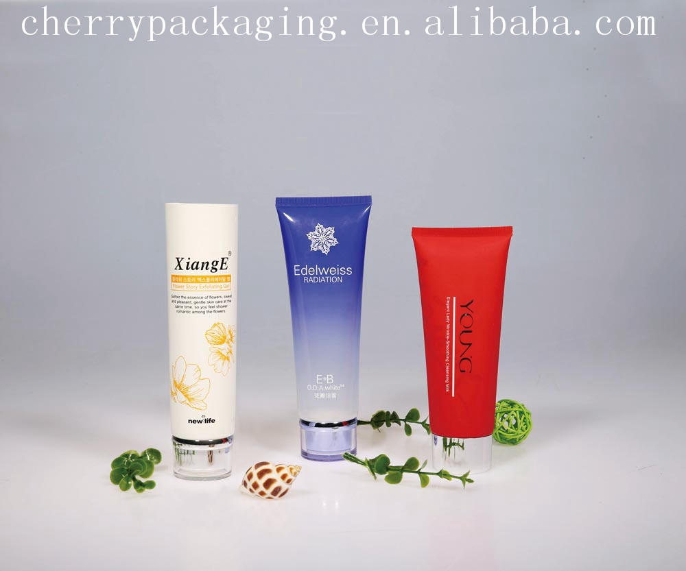 BB cream a series of cosmetic plastic soft tubes packaging