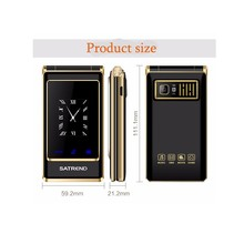 A15 Unlocked 3.0 Inch Flip touch screen Dual SIM Card Quad Band Mobile phone for old mens