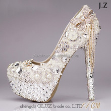 OW01 2017 Butterfly Chain Shoes Women Wedding Shoes