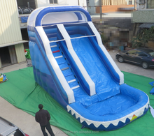 China 2015 hot sale commercial grade inflatable water slides with pool for sale