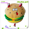 Hamburger plush squeaker pet toy,pet product from China Factory wholesales