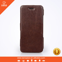 2015 Fashion stylish genuine leather phone case custom cover flip phone case