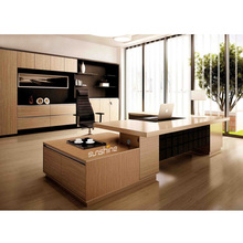 New Design MDF Luxury Wood Table Modular Office Furniture Modern CEO Executive Desk Import From China