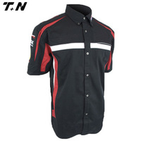 Custom racing wear pit crew wear sublimation racing shirts