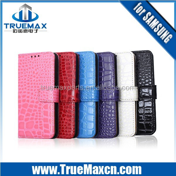 New Colorful Crocodile PU Flip Leather Case for Samsung Galaxy S6 Edge