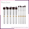 2016 USA popular Long Handle personalized cosmetics 10pcs makeup brush set