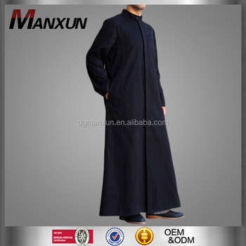 2016 Full Length Men Jubbah Islamic Thobe Muslim Abaya