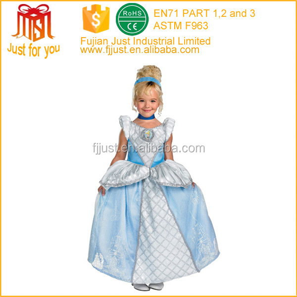fancy party children princess costume for kids